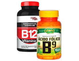 Vitamina B12 e Vitamina B9 Ácido Fólico Kit Especial