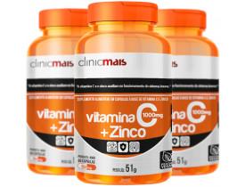 Vitamina C + Zinco 60 cápsulas Kit com 3