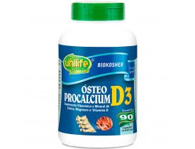 Vitamina D3 Cálcio e Magnésio Ósteo Procalcium 90 cápsulas de 950mg