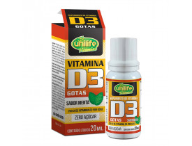 Vitamina D3 em Gotas Sabor Menta 20ml