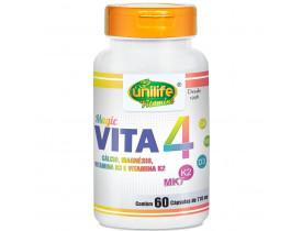 Vitamina K2 D3 Cálcio e Magnésio MK7 Vita 4 60 cáps 710mg