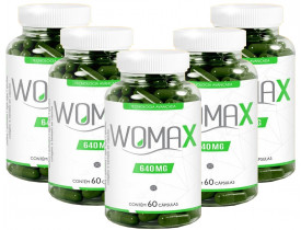 Womax Emagrecedor Quitosana e Colágeno 60 cápsulas 640mg Kit com 5