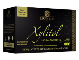 Adoçante Xylitol Açúcar Natural Caixa com 50 Sachês de 5g - Essential Nutrition