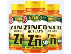Zinco Quelato ZN 60 Cápsulas de 600mg kit com 3